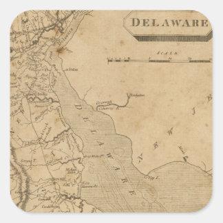Delaware 3 square sticker