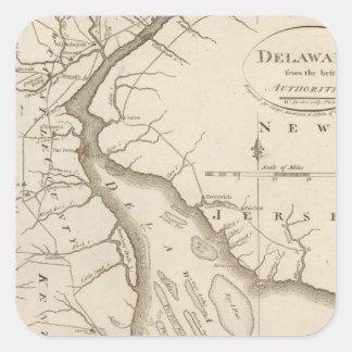 Delaware 5 square sticker