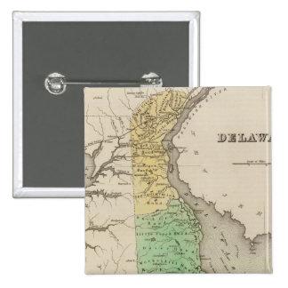 Delaware 6 15 cm square badge