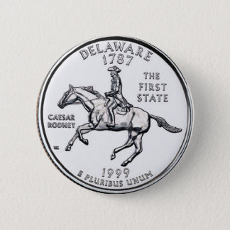 Delaware 6 Cm Round Badge