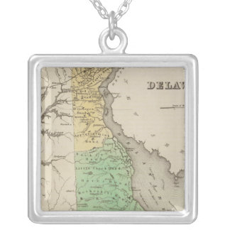 Delaware 6 silver plated necklace