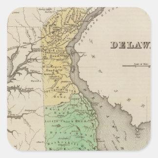 Delaware 6 square sticker