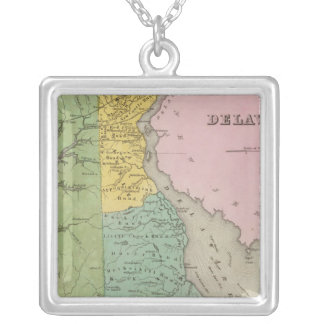 Delaware 7 silver plated necklace