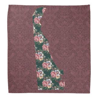 Delaware! A state border floral bandana! Head Kerchiefs