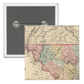 Delaware and Maryland 15 Cm Square Badge