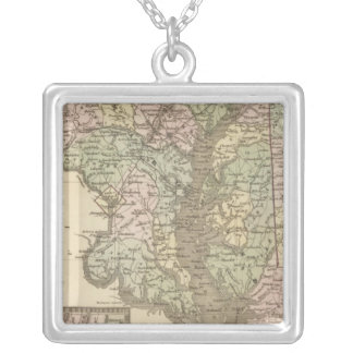 Delaware and Maryland 2 Silver Plated Necklace