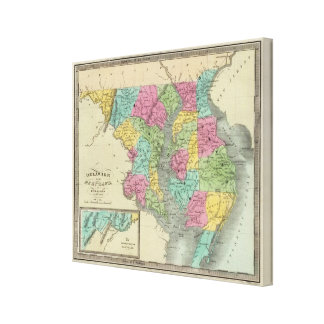 Delaware And MaryLand Canvas Print