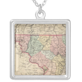 Delaware and Maryland Silver Plated Necklace