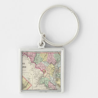 Delaware And Maryland with District of Columbia Key Ring