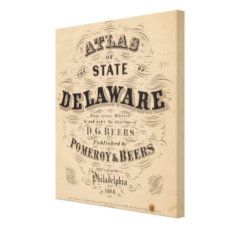 Delaware Atlas Canvas Print