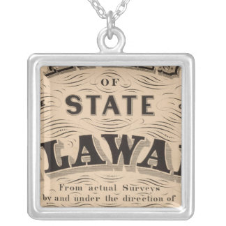 Delaware Atlas Silver Plated Necklace