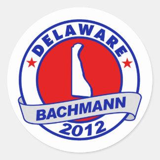 Delaware Bachmann Round Sticker