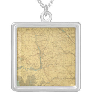 Delaware Bay, New Jersey Silver Plated Necklace