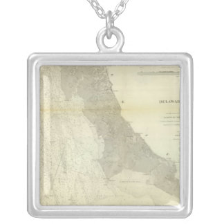 Delaware Bay, River 2 Silver Plated Necklace