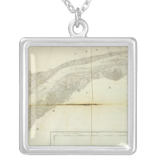 Delaware Bay, River 3 Silver Plated Necklace