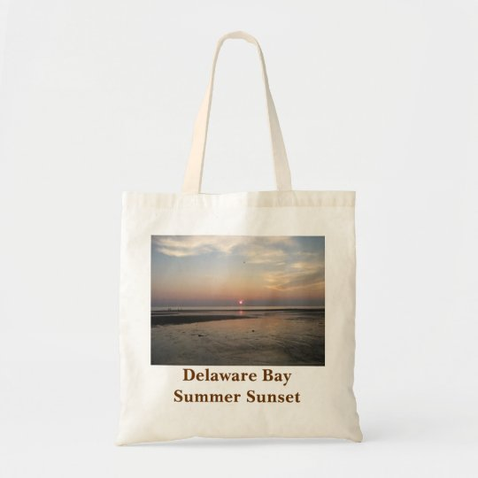 Delaware Bay Summer Sunset Tote Bag