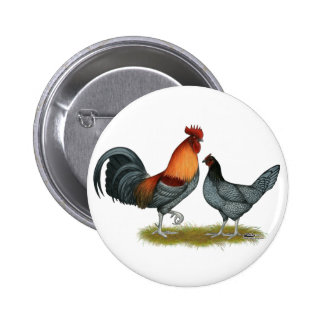 Delaware Blue Hen 6 Cm Round Badge