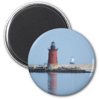 Delaware Breakwater & Harbor of Refuge Lighthouses 6 Cm Round Magnet
