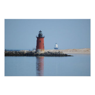 Delaware Breakwater & Harbor of Refuge Lighthouses Poster