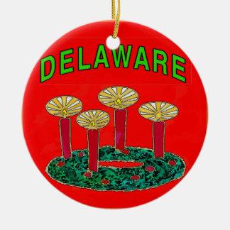 Delaware Christmas Tree Christmas Ornament