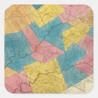Delaware County Square Sticker