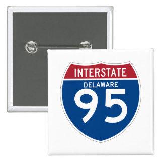 Delaware DE I-95 Interstate Highway Shield - 15 Cm Square Badge