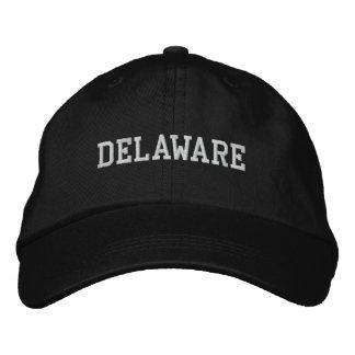 Delaware Embroidered Adjustable Cap Black