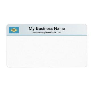 Delaware Flag Header Shipping Label