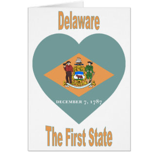 Delaware Flag Heart Card