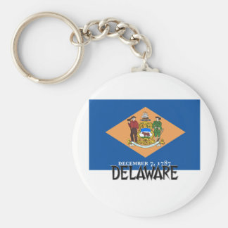 Delaware Flag Key Ring