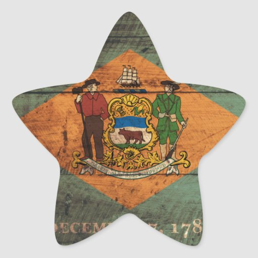Delaware flag souvenir star stickers