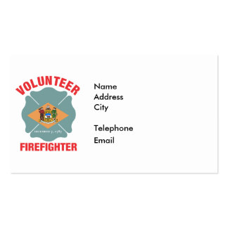 Delaware Flag Volunteer Firefighter Cross Pack Of Standard Business Cards
