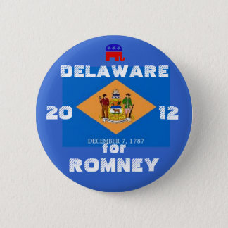 Delaware for Romney 2012 6 Cm Round Badge