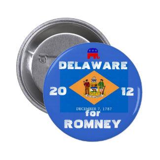 Delaware for Romney 2012 6 Cm Round Badge