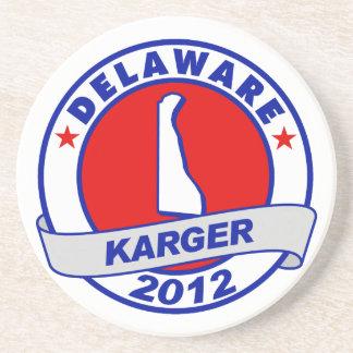 Delaware Fred Karger Drink Coaster