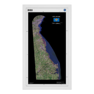 Delaware From Space Poster