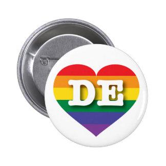 Delaware Gay Pride Rainbow Heart - Big Love 6 Cm Round Badge