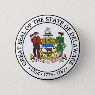 Delaware Great Seal 6 Cm Round Badge