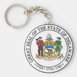 Delaware Great Seal Key Chain