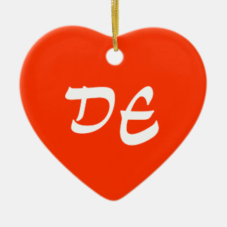 Delaware Heart Ornament