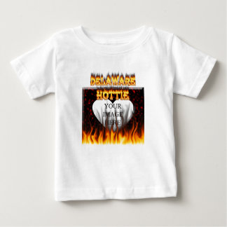 Delaware hottie fire and flames design. shirts