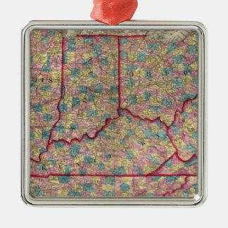 Delaware, Illinois, Indiana, and Iowa Christmas Ornament