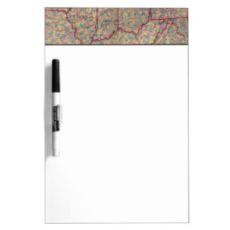 Delaware, Illinois, Indiana, and Iowa Dry Erase Board