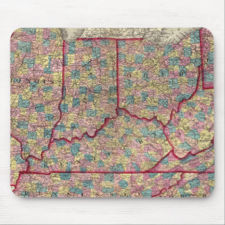 Delaware, Illinois, Indiana, and Iowa Mouse Mat