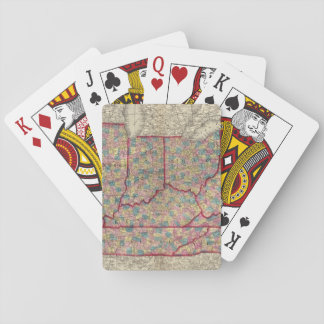 Delaware, Illinois, Indiana, and Iowa Playing Cards