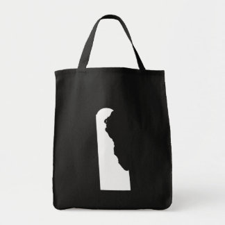 Delaware in White and Black Tote Bag