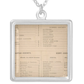 Delaware Index Silver Plated Necklace