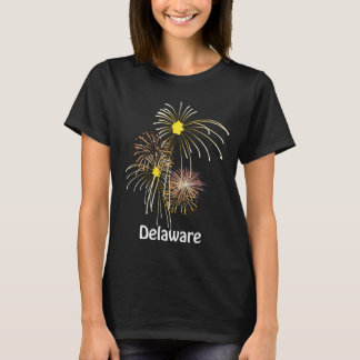 Delaware July 4th Fireworks Ladies T-shirt
