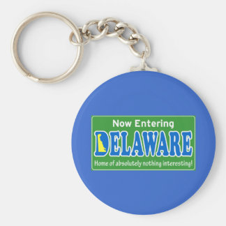 Delaware Basic Round Button Key Ring