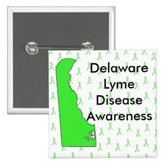 Delaware Lyme Disease Awareness Button